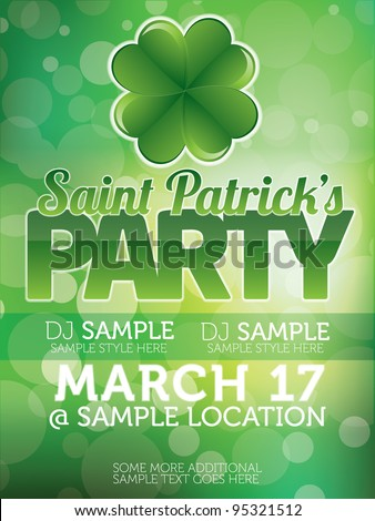 Saint Patricks Day Party Poster