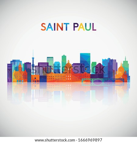 saint paul skyline silhouette