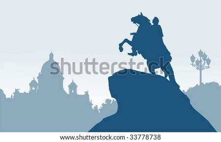 Saint Petersburg,  Russia,  Peter the Great,  Bronze Horseman,  White Nights, Saint Isaac's Cathedral