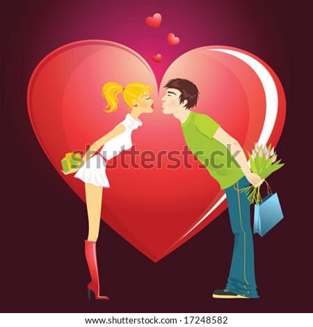 Valentines  Facts on Saint Valentines Day Stock Vector 17248582   Shutterstock