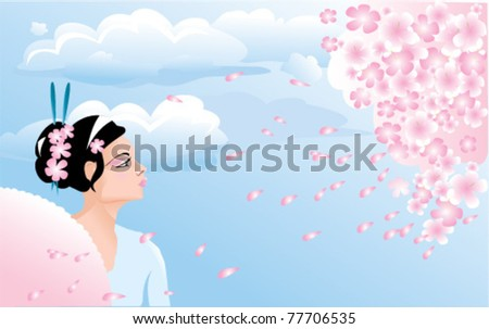 sakura blossom and japanese