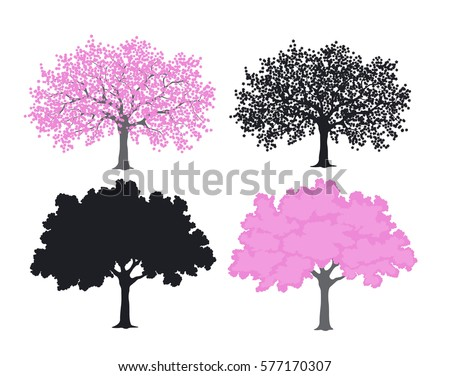 free vector blossom tree - download free vector art, stock