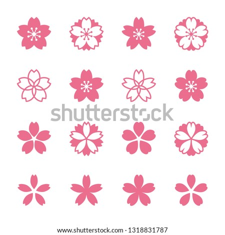 Sakura Cherry blossoms icon set