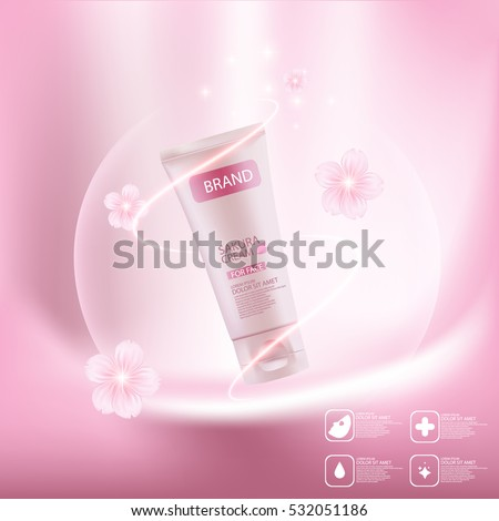 sakura cream concept skin care