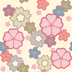 Sakura Japanese new pattern seamless vector in graphic style background for fabric,textile,Advertising work,Publication,Vector Illustration design.