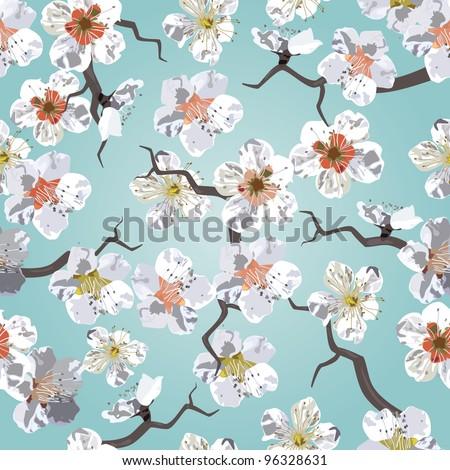 sakura seamless pattern eps 10