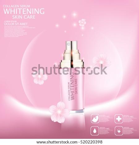 Sakura whitening serum for skin care.