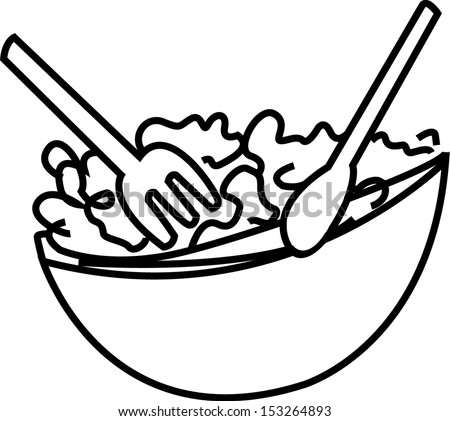 Stock Vector Salad Bowl