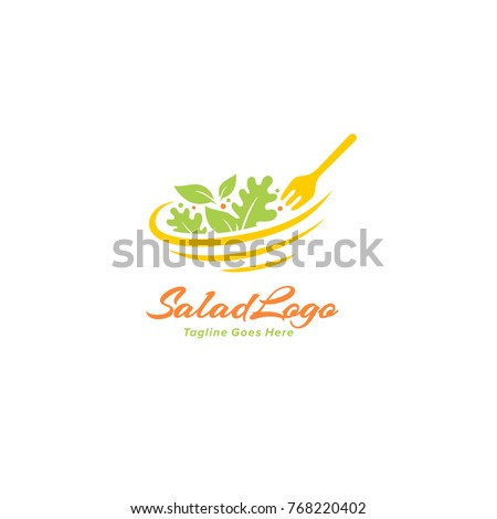 Salad Logo - Healthy Food Vector
