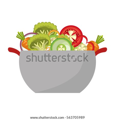 salad vegetables fresh icon #563705989