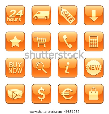 Sale and delivery icons buttons vector set