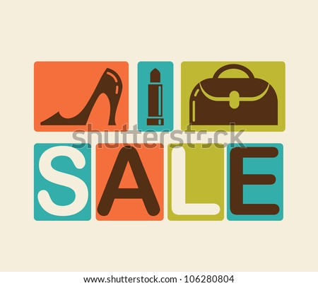 Sale and shopping background