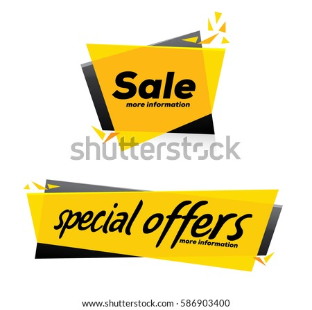 Sale and special offer banner , Vector format