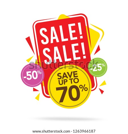 Sale and special offer tag, price tags, Sales Label, Vector illustration.