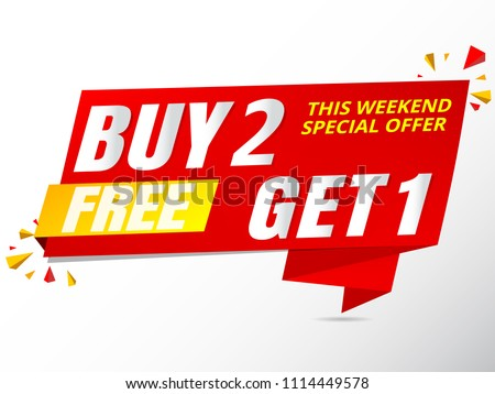 sale banner buy get free