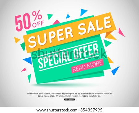 Sale Banner Design. Vector illustration