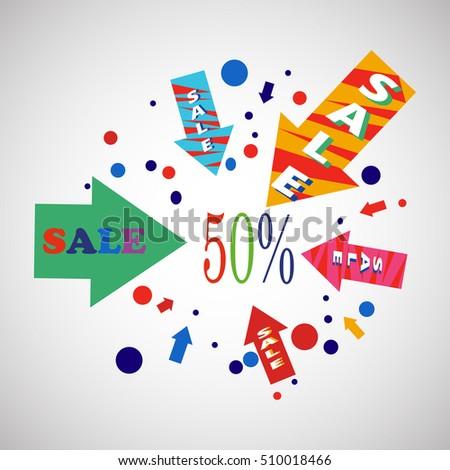 Sale banner design.Vector illustration #510018466