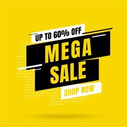 Sale banner template design, Big sale special offer. end of season special offer banner. vector illustration.
