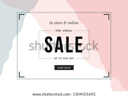 Sale banner template design. Vector illustration.