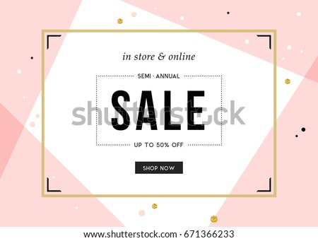 Sale banner template design. Vector illustration. - Shutterstock ID 671366233