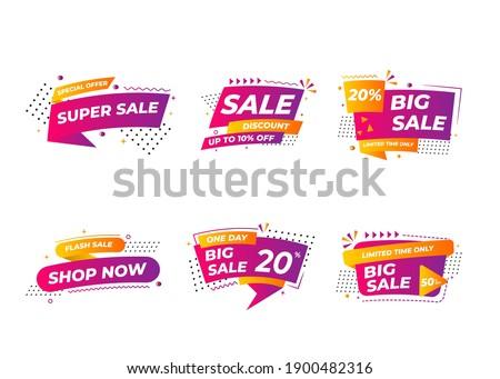Sale banner templates design. Special offer tags. Super sale discounts. Flash sale discount. Mega offer. Big Sale. Special discount. Discount tag vector