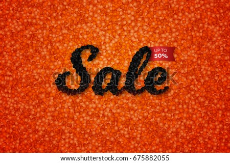 sale banner with realistic