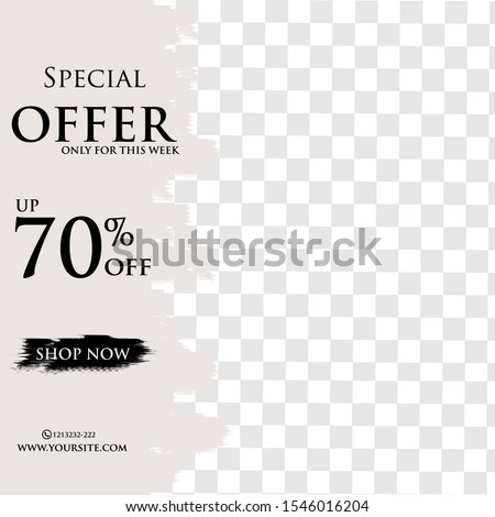 Sale banners, flyers with abstract geometric and brush effect. Modern and vi social media placard set for mobile website, posters, email and newsletter designs, ads, online shopping, promotional