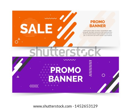 Sale banners with text space, abstract elements, waves,purple and red color. Template, card, layout, background for promotion, clearance, advertising retail