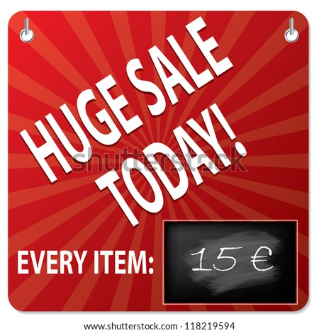 Sale board with wipeable blackboard for price modification