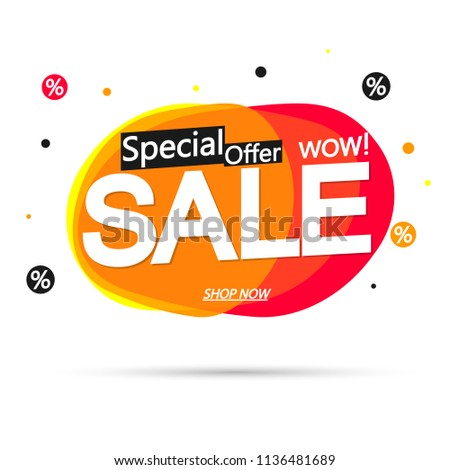 Sale bubble banner design template, discount tag, special offer, app icon, vector illustration #1136481689