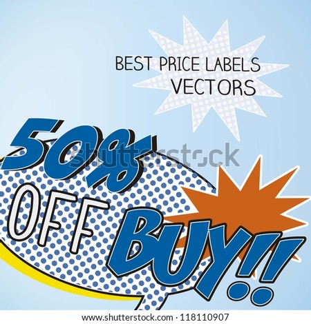 Sale comics labels