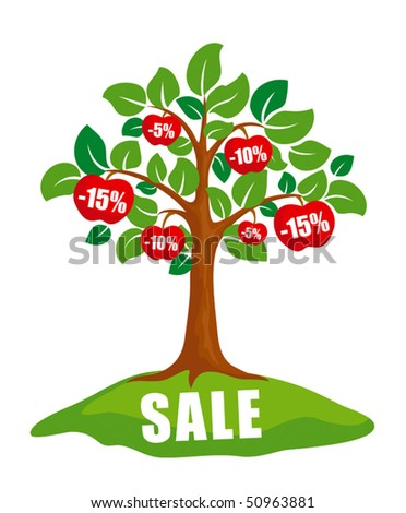 sale concept  tree with