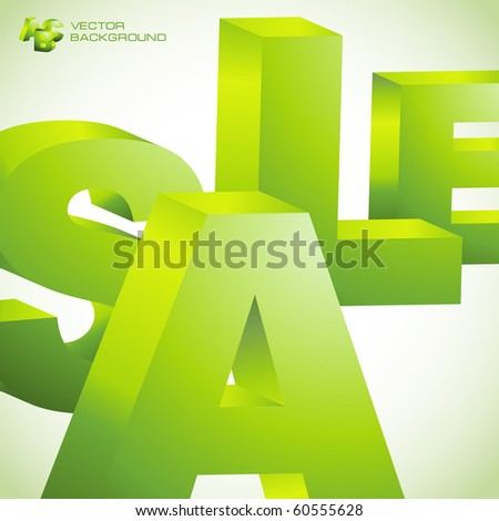 SALE. 3D collage. Vector illustration.