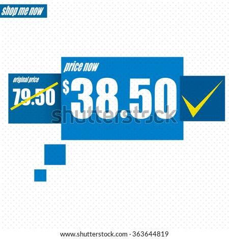 Sale design - Price tag, old price / new price