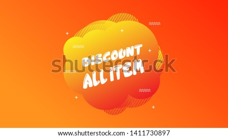 Sale Discount Banner. Discount banner. Vector illustration with liquid background.