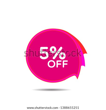 sale 5   discount label for