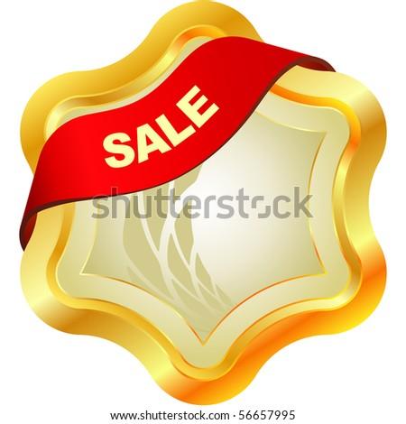 Sale emblem. - stock vector