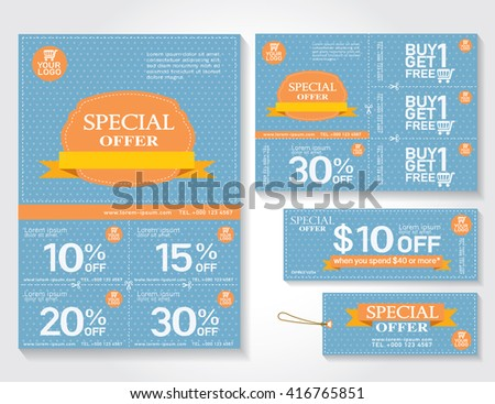 High Quality Sale Flyer, Promotions Coupon Or Banner Design With Best Discount Offers,  Template Background Size  Coupon Flyer Template