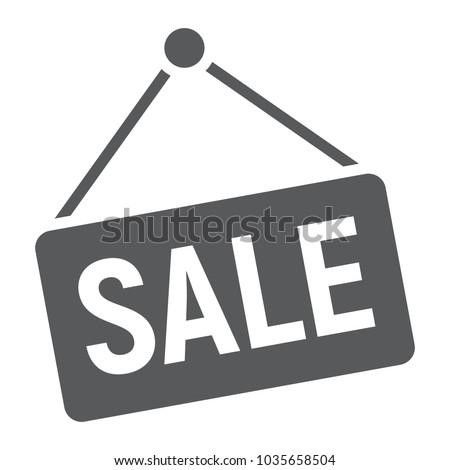 sale glyph icon  e commerce and