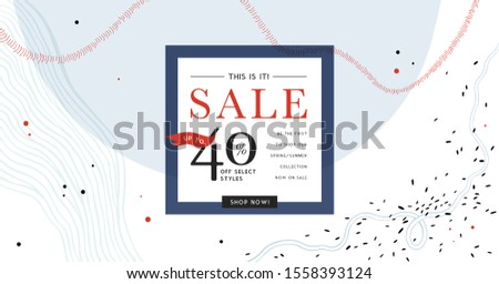 Sale header or banner with space for text on abstract background. Good for website, social media, email, print, ads design and promotional material. Vector illustration.