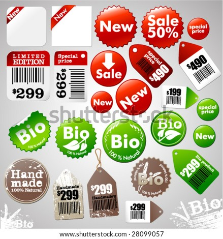 Sale icons and different product labels package (easy editable, see also other icons in my portfolio)