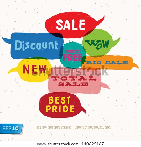 Sale Interactive multicolored bubbles in different sizes and forms, vector Eps10 illustration.