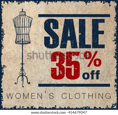 sale label for women's clothing