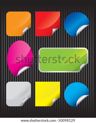 Sale label set - stock vector