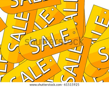 Sale labels background