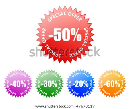 sale labels (vector)