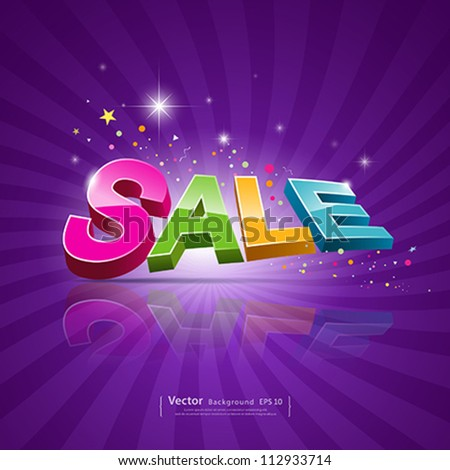 Sale message, promotional products, vector illustration