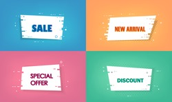 Sale, new arrival, discount, special offer - Set of trendy vector bubbles