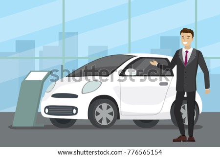 sale of a new car cartoon