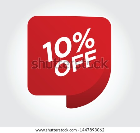 Sale of special offers. Discount with the variant price .An ad with a red tag for an advertising campaign at retail on the day of purchase. vector sale of special offers